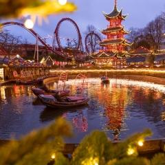 Le parc Tivoli à Copenhague, DK