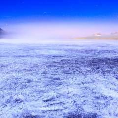 Le lac des Taillères en hiver, NE