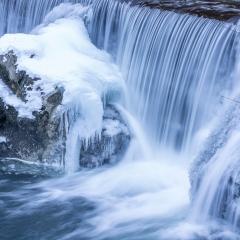 Les gorges de l'Areuse en hiver, NE
