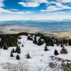 Entre automne et hiver depuis le Mont de Baulmes, VD