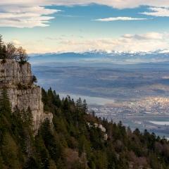 Belle vue depuis le mont de Baulmes, VD