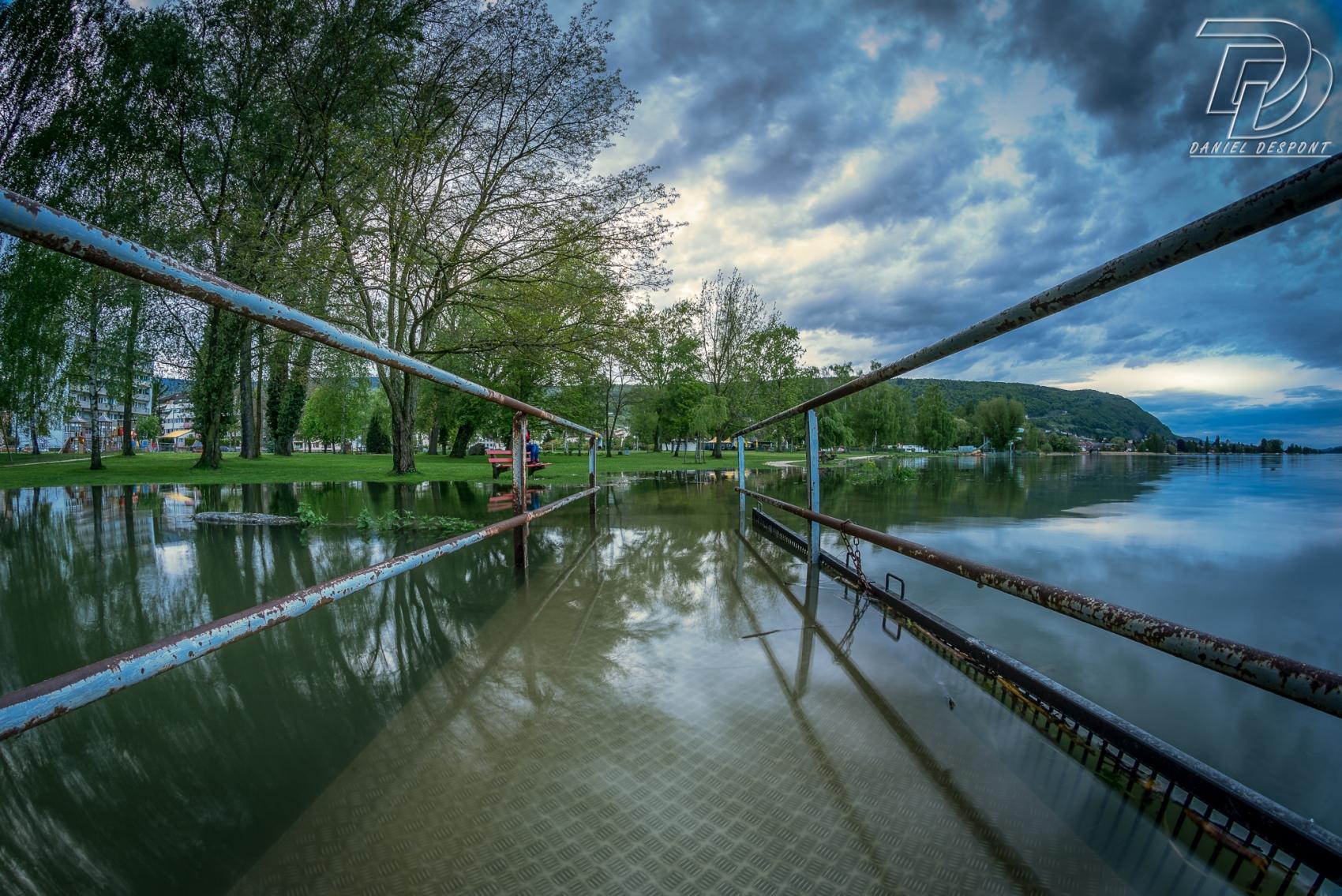 Inondation au Landeron, NE